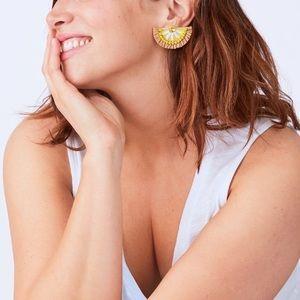 Stella & Dot Jewelry - NIB Stella & Dot Lemon Embroidered Earrings